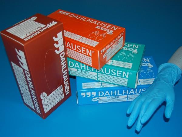Handschuh Nitrex blau Gr. L - Handschuh Nitrex blau Gr. L
