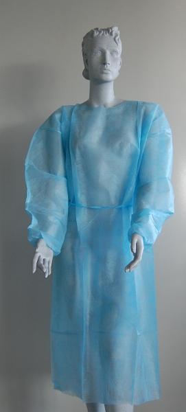 Besucherwickelmantel Farbe blau - Besucherwickelmantel Farbe blau