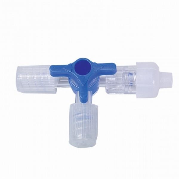 Dreiwegehahn Discofix C blau - Dreiwegehahn Discofix C blau