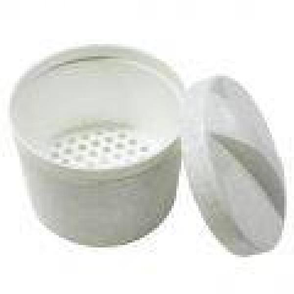 Plastikbecher mit Deckel, rund - Saarmed Medizinbedarf GmbH Onlineshop