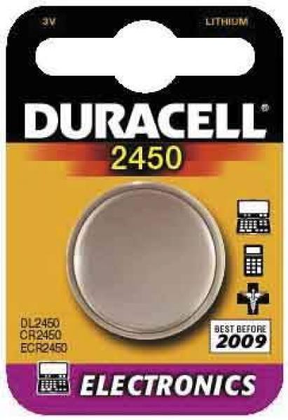 Batterie 3 Volt Knopf CR2450 - Batterie 3 Volt Knopf CR2450