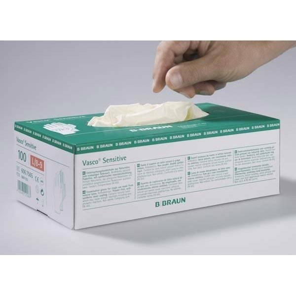 Handschuh Latex Braun Vasco Gr. L - Saarmed Medizinbedarf GmbH Onlineshop