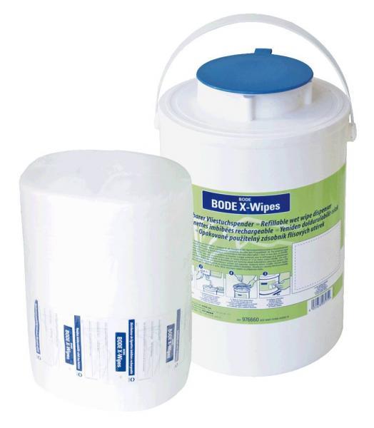 Bode X-Wipes Spender m. blauem Deckel - Bode X-Wipes Spender m. blauem Deckel