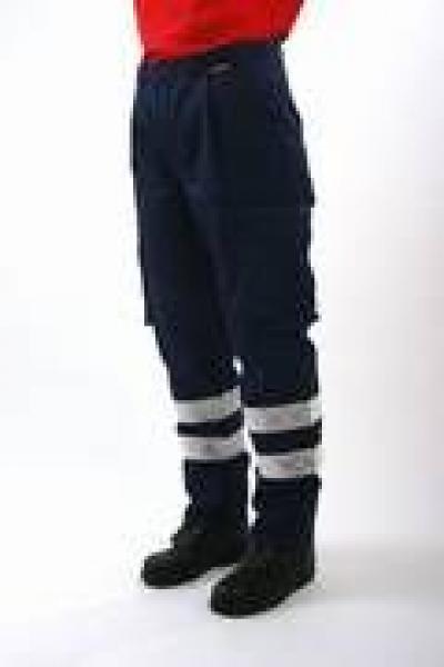RD Hose blau mit 2 Reflexite Streifen - Saarmed Medizinbedarf GmbH Onlineshop