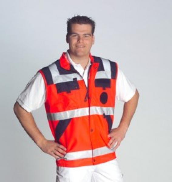 RD Weste leuchtrot, Gr. 50/52 (M) - Saarmed Medizinbedarf GmbH Onlineshop