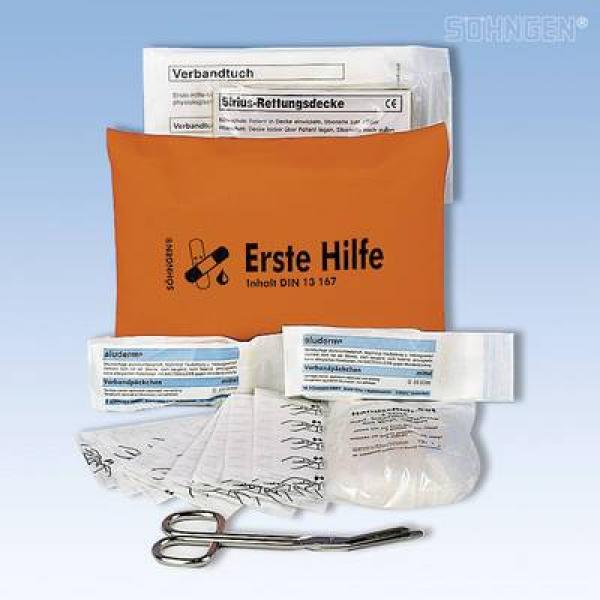 Erste-Hilfe-Tasche DIN 13167 orange - Saarmed Medizinbedarf GmbH Onlineshop