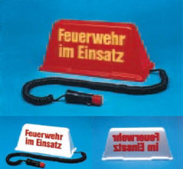 Auto-Dachschild unbeleuchtet, rot/gelb - Saarmed Medizinbedarf GmbH Onlineshop