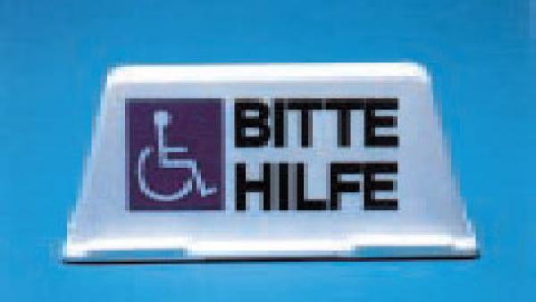 Auto-Dachschild beleuchtet, Handicap - Saarmed Medizinbedarf GmbH Onlineshop