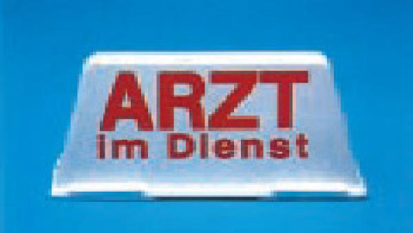 Auto-Dachschild unbeleuchtet, weiß/rot - Saarmed Medizinbedarf GmbH Onlineshop