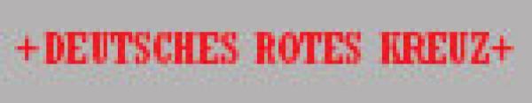 Rückenschild Reflexite weiß-rot - Rückenschild Reflexite weiß-rot
