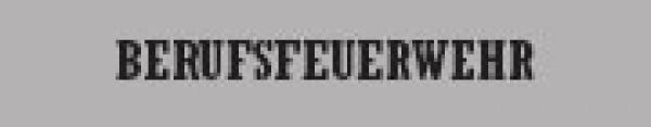 Rückenschiild Berufsfeuerwehr - Saarmed Medizinbedarf GmbH Onlineshop