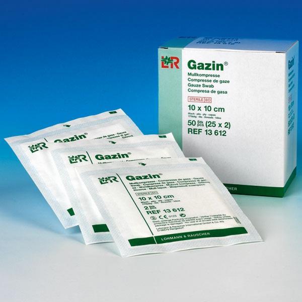Mullkompresse Gazin 10 x 10 ,5 verpackt - Saarmed Medizinbedarf GmbH Onlineshop