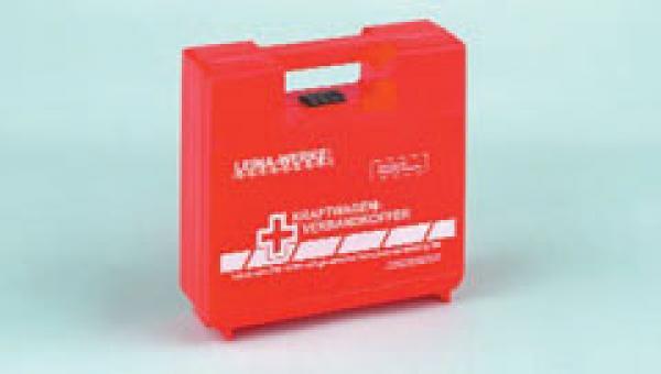 KFZ Verbandkoffer, rot - Saarmed Medizinbedarf GmbH Onlineshop