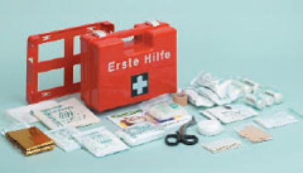 Erste-Hilfe Koffer Quick gefüllt, orange - Saarmed Medizinbedarf GmbH Onlineshop