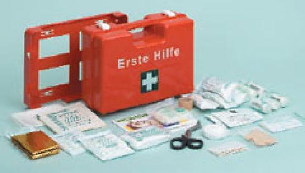 Erste-Hilfe Koffer SAN orange o. Druck - Saarmed Medizinbedarf GmbH Onlineshop