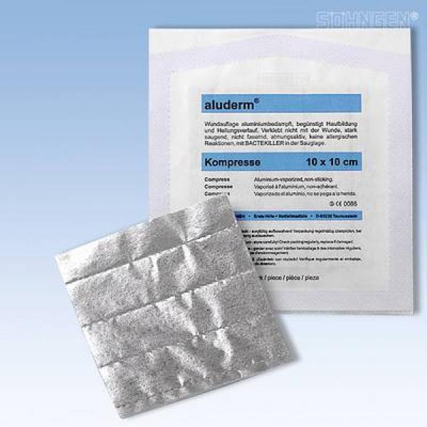aluderm® Kompresse steril 10 x 10 cm - Saarmed Medizinbedarf GmbH Onlineshop