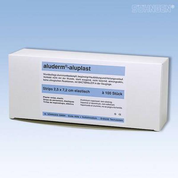 aluderm® aluplast Strips, el. 2,5  x 7,2 - Saarmed Medizinbedarf GmbH Onlineshop