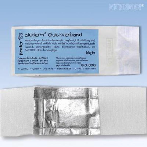aluderm® Quickverband Kinder Klein - Saarmed Medizinbedarf GmbH Onlineshop