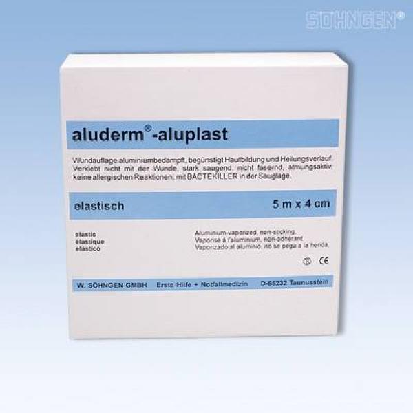 aluderm® aluplast elastisch 5 m x 4 cm - Saarmed Medizinbedarf GmbH Onlineshop