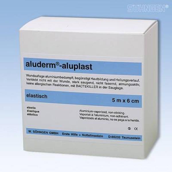 aluderm® aluplast elastisch 5 m x 6 cm - Saarmed Medizinbedarf GmbH Onlineshop