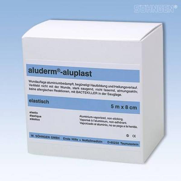 aluderm® aluplast elastisch 5 m x 8 cm - Saarmed Medizinbedarf GmbH Onlineshop