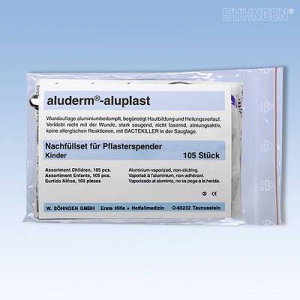 Aluderm-aluplast Nachfüllset m. Schere - Saarmed Medizinbedarf GmbH Onlineshop