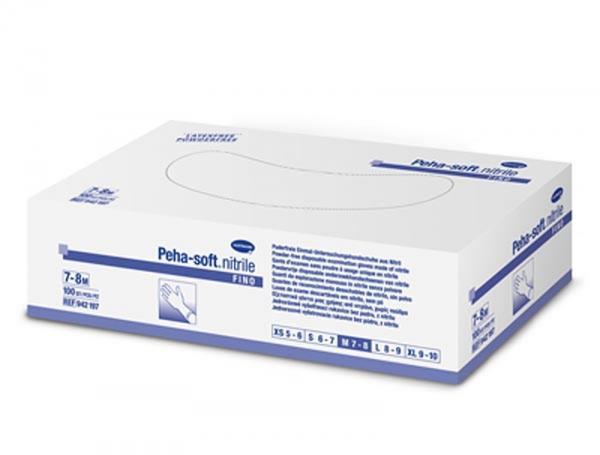 Handschuh Peha-Soft nitrile fino Gr. M - Saarmed Medizinbedarf GmbH Onlineshop
